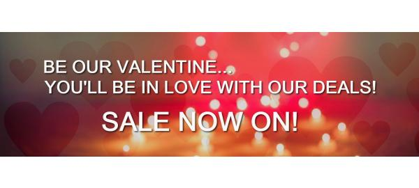 Be our Valentine! It's our lovely Valentine's Sale!