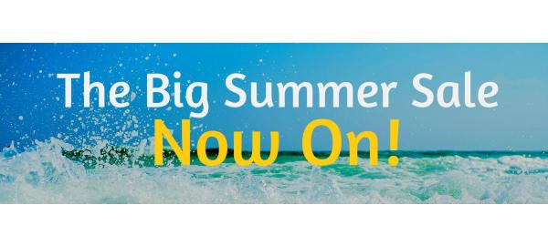 Summer is here and so is our amazing Summer Sale!