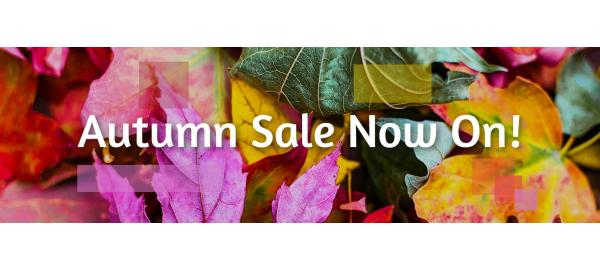 An Autumn Sale Glowing with amazing deals!