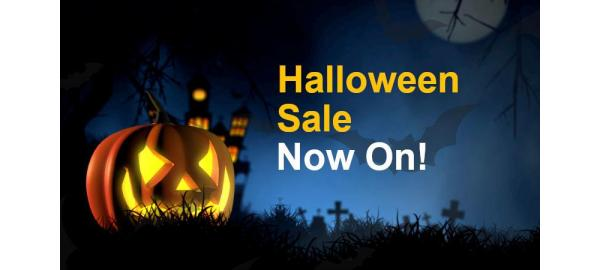 Halloween Sale Now On, but Nothing Scary About Our Deals!