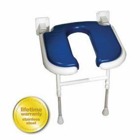 Standard Horseshoe Shower Seat - Blue