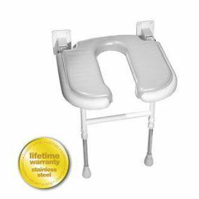Standard Horseshoe Shower Seat - Grey