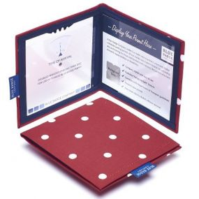 Cloth Blue Badge Wallet - Spotty Red