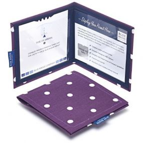 Cloth Blue Badge Wallet - Spotty Grape