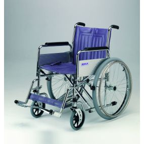 Heavy Duty Self-Propelled Wheelchair with Detachable Arms and Swing Away Footrests - 20