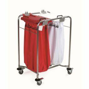 Medi-Cart Laundry Trolley - 2 Bag Cart