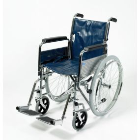 Self-Propelled Wheelchair - With detachable Armrests and Footrests, and Folding Back - 18