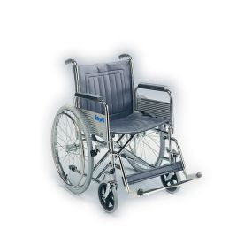 Heavy-Duty Self Propelled Wheelchair With Detachable Armrests & Folding Back
