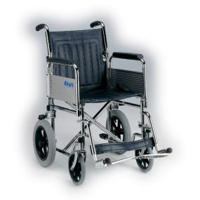 Extra Wide Heavy-Duty Transit Wheelchair (Folding Back)