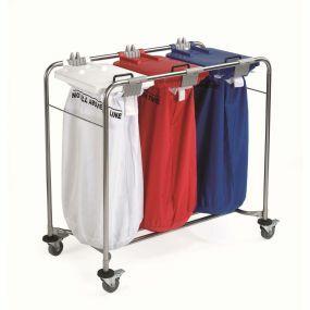 Medi-Cart Laundry Trolley - 3 Bag Cart