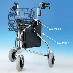 Chrome 3 Wheeled Walker - Standard