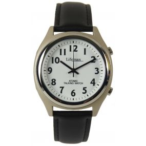 Talking Atomic Watch - Mens - Leather Strap