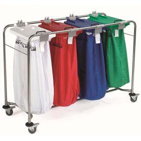 Medi-Cart Laundry Trolley - 4 Bag Cart