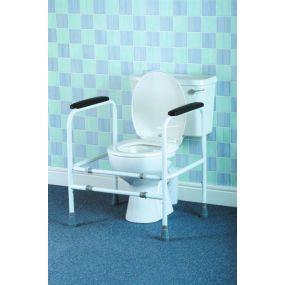 Adjustable Toilet Surround - Aluminium