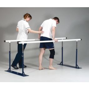 Height Adjustable Folding Remedial Parallel Bars - 2.3m