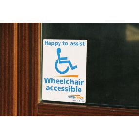 Aerolight Wheelchair Acess sign