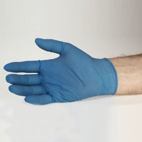 Healthguard Blue Latex Exam Gloves - Powder Free (Medium)