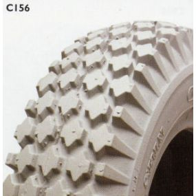 Cheng Shin - Pneumatic Grey Tyre (Pattern Block C156) - 410/350x6