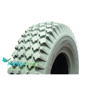 Primo - Solid / Puncture Proof Grey Tyre (Pattern Block C156) - 410/350 X 6