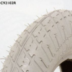Primo - Pneumatic Grey Tyres (Pattern Block C9210 Round Type) - 200 x 50