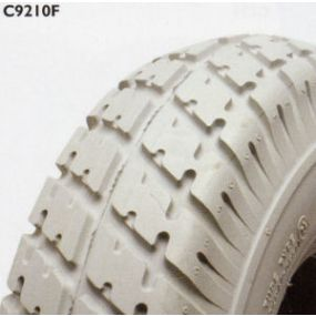 Primo - Pneumatic Grey Tyres - Pattern Block C9210 Square Type - Tyre Size 300 x 10