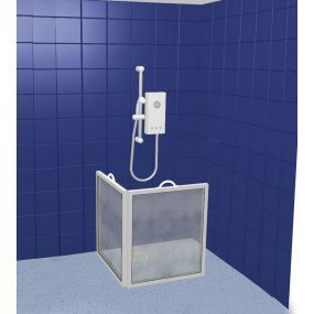 Compact Portable Shower Screen - 2 screens, panel width 65cm (25.1/2