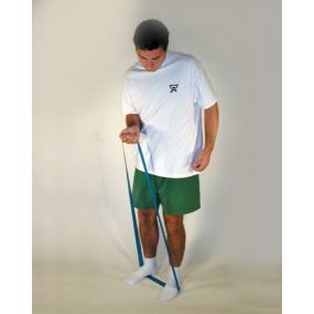 Cando Low Powder Exercise Loop - Leg Light Resistance (Green)
