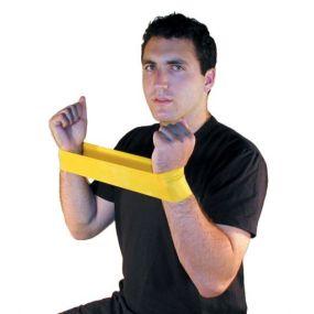 Cando Low Powder Exercise Loop - Arm Medium Resistance (Blue)