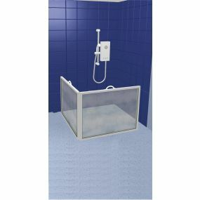Compact Portable Shower Screen - 2 screen , panel width : 100cm (39