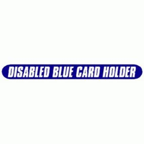Disabled Blue Card Holder - Car Sticker 11