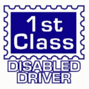 1st Class Disabled Driver - Car Sticker 26