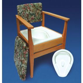Deluxe Armchair Style Commode Chair - Flower Basket