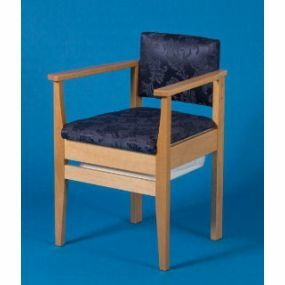 Deluxe Armchair Style Commode Chair - Sapphire