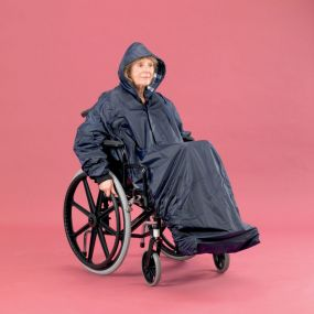 Lined Wheelchair Mac With Sleeves - Long