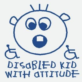 Disabled Kid With Attitude - Car Sticker 20