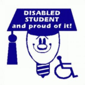 Disabled Student And Proud Of It - Car Sticker 27