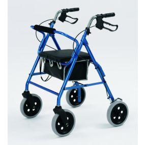 Economy Aluminium Rollator (20cm Wheels) - Blue