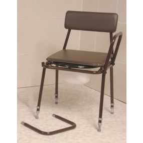 Stacking Commode - Adjustable Height (Removable Arms)