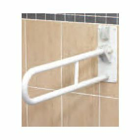 Fold Up Double Support Rail - White