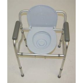Folding Commode Chair & Toilet Surround