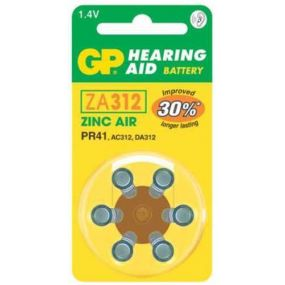 GP Hearing Aid Batteries - Type ZA312