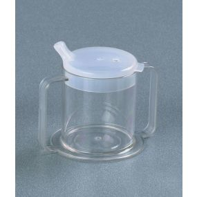 Independence Two-Handled Clear Mug With Anti-Splash Lid