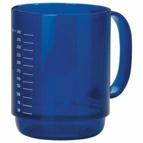 Large Handle Round Mug - Dark Blue