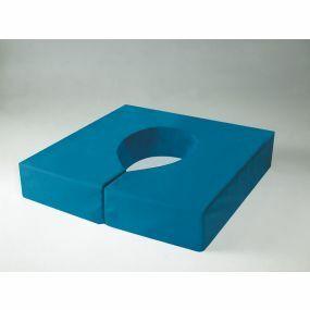 Harley Smooth Standard Foam Waterproof Cover Commode Cushion - Blue (20x20x4