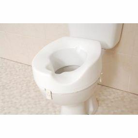 Melton Sloped Raised Toilet Seat With Cut-Away - Left Slope