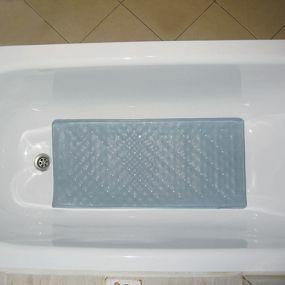 Shower Mat Round Bath Mat PVC Bathroom Mat Antibacterial Bathtub Mat Non Slip Shower Mats with Suction Cups and Drain Holes 55x55cm,Blue Machine Washable for Bathroom Bathtub Toilet Swimming Pool