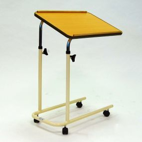 Over Bed Table with Open Base - With Castors