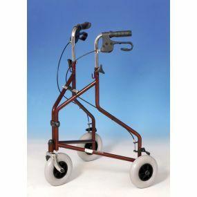 Super Economy Steel Tri Wheels Walker - Burgundy