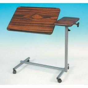 Deluxe Tilt Top Over Bed Table (Teak Top)
