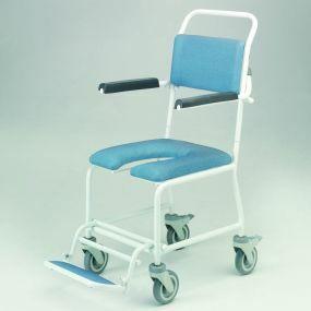 Paisley Gap Front Shower Chair - Horseshoe Seat ( 4 Brake )